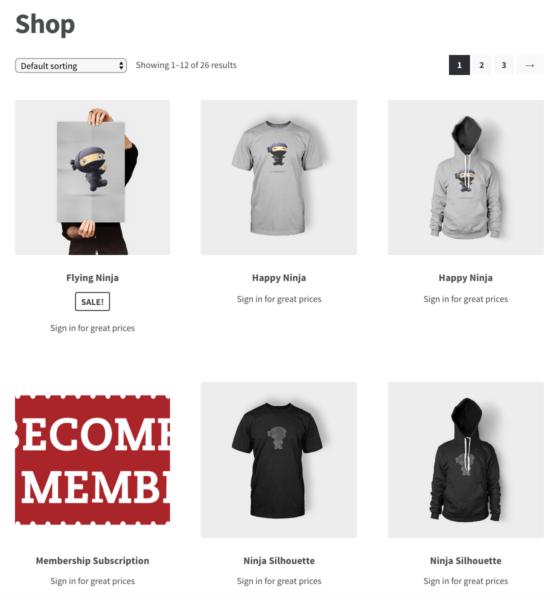catalog woocommerce hidden prices