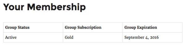 Restrict Content Pro Group Memberships:  child member view