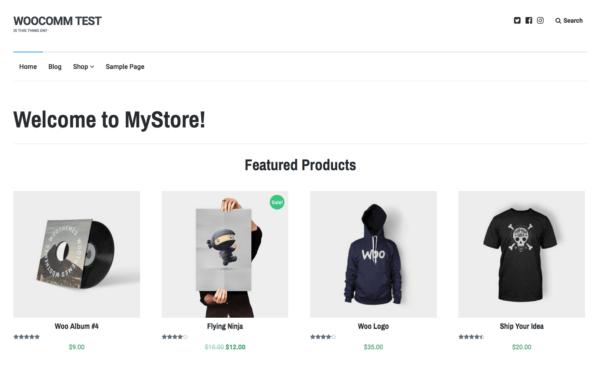 Lenscap Review: WooCommerce Homepage sample