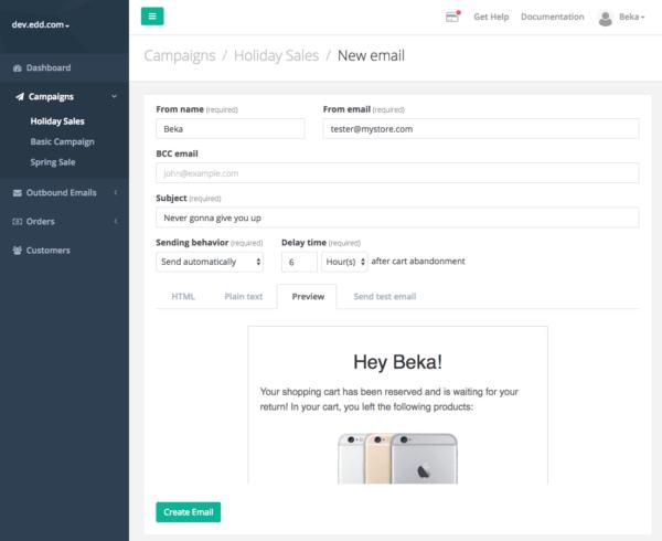 Jilt app: add new email