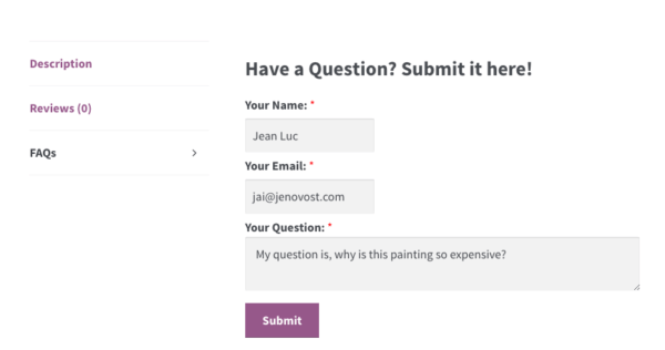 add faqs to products individually