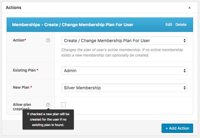 AutomateWoo Memberships Action
