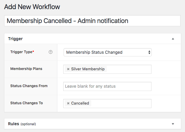 AutomateWoo Memberships Trigger