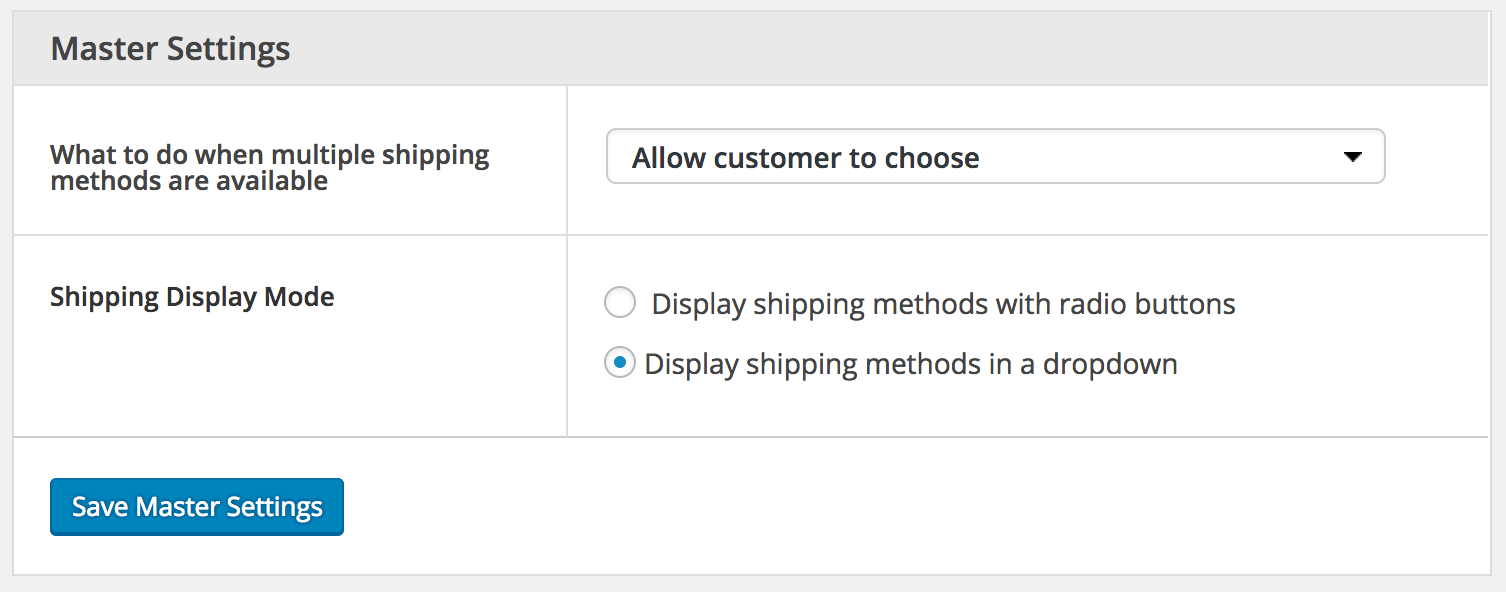Advanced Flat Rate Shipping Review: display settings