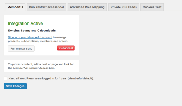 membership site with memberful wordpress view