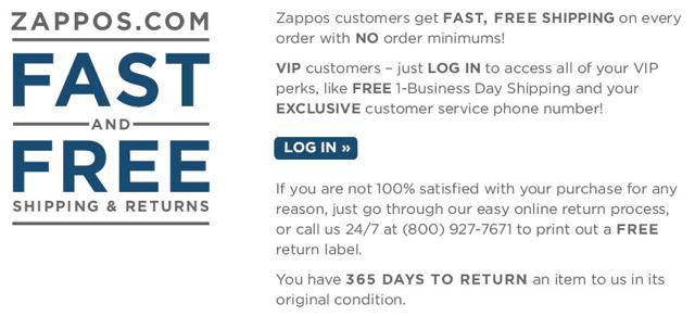 Zappos service