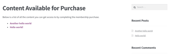 woocommerce pay per post available content purchase