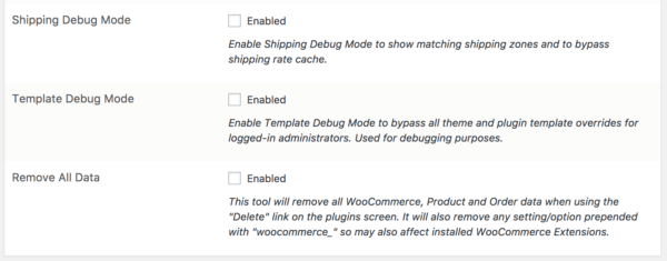 WooCommerce 3.0 Review: 2.6 debug tools