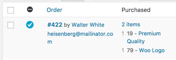 WooCommerce 3.0 Review: 2.6 orders list