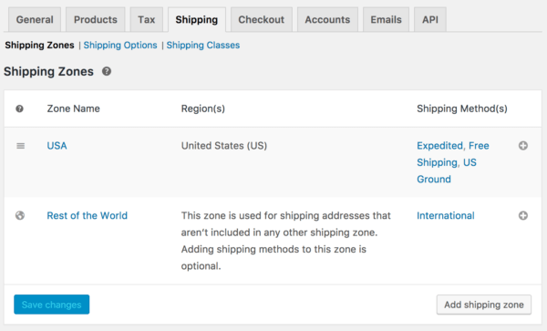 WooCommerce 3.0 Review: 2.6 shipping zones