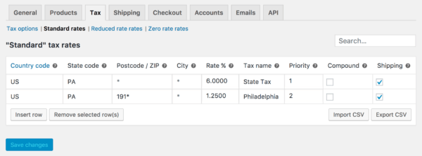 WooCommerce 3.0 Review: 3.0 tax rates