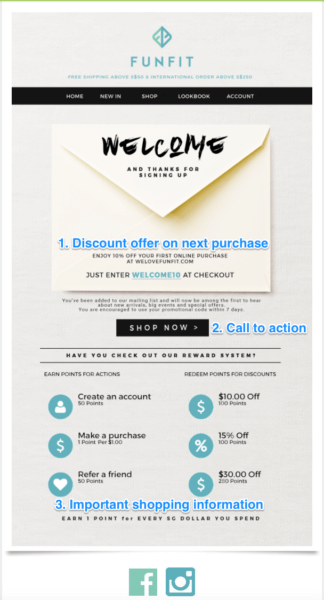 Funfit welcome email