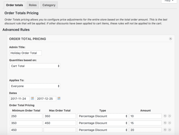 WooCommerce Dynamic pricing offer