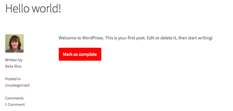 WPComplete complete post
