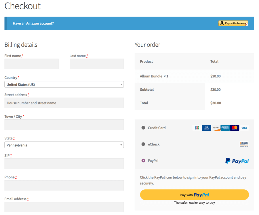 WooCommerce multiple payment methods