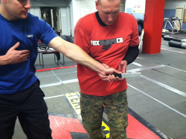 Blunt to Edged Weapon Awareness Training at Combined Fighting Systems