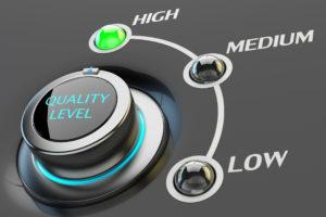 Highest quality assurance, high quality level guarantee