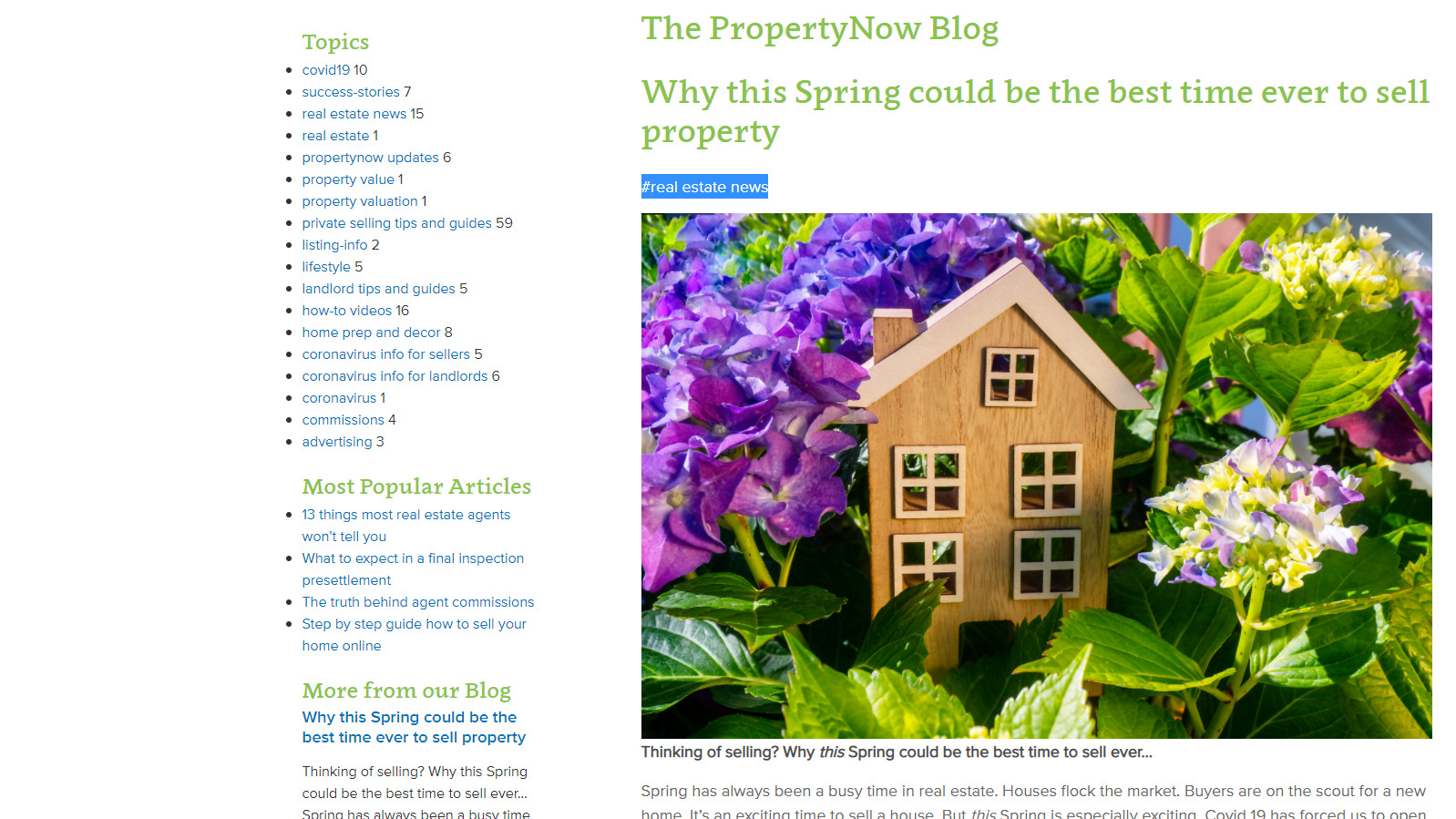 Realestate Article