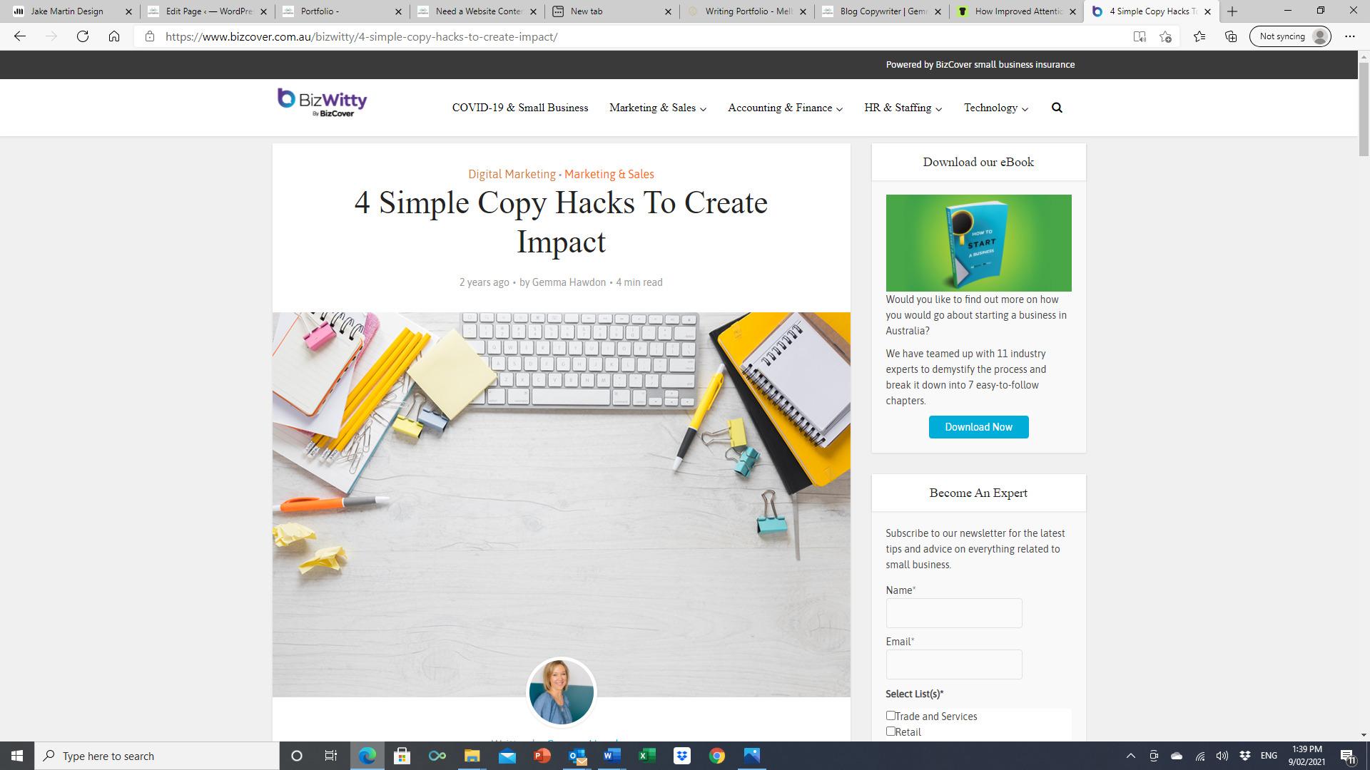 Biz Witty - 4 simple copy hacks to create interest