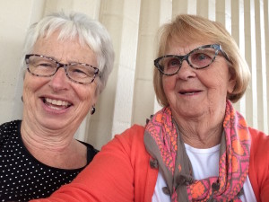 Ruth and Mo's selfie at the airport