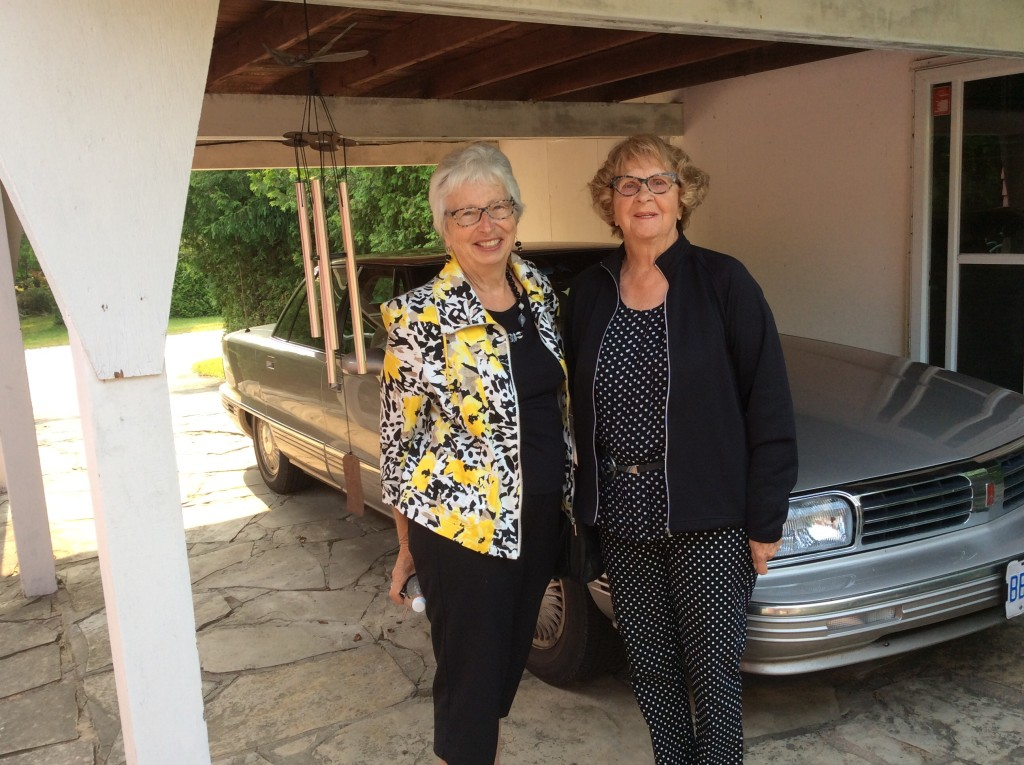Ruth and Maureen, saying goodbye to the Sauble Beach cabin.