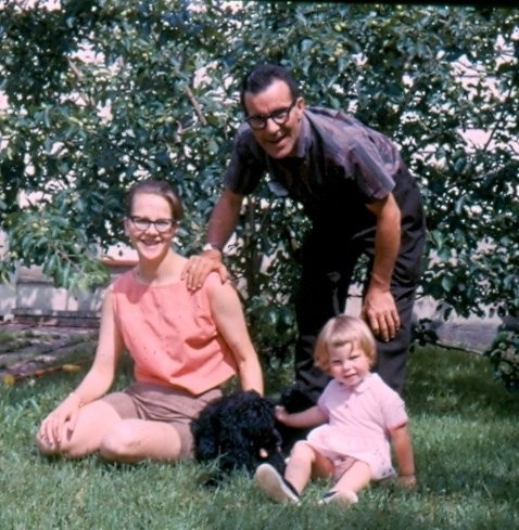 Me, Doc, Colleen and our dog, Terry, circa 1962