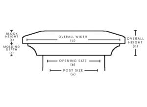 nantucket post cap measurement chart backstreet