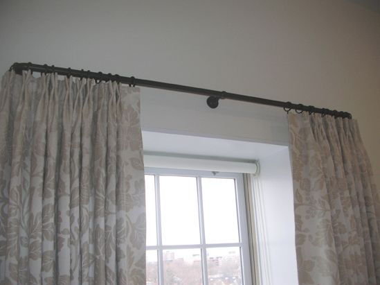 """1"""" Oil Rubbed Bronze Rods w/Smooth Elbows, Rings, and Brackets"""