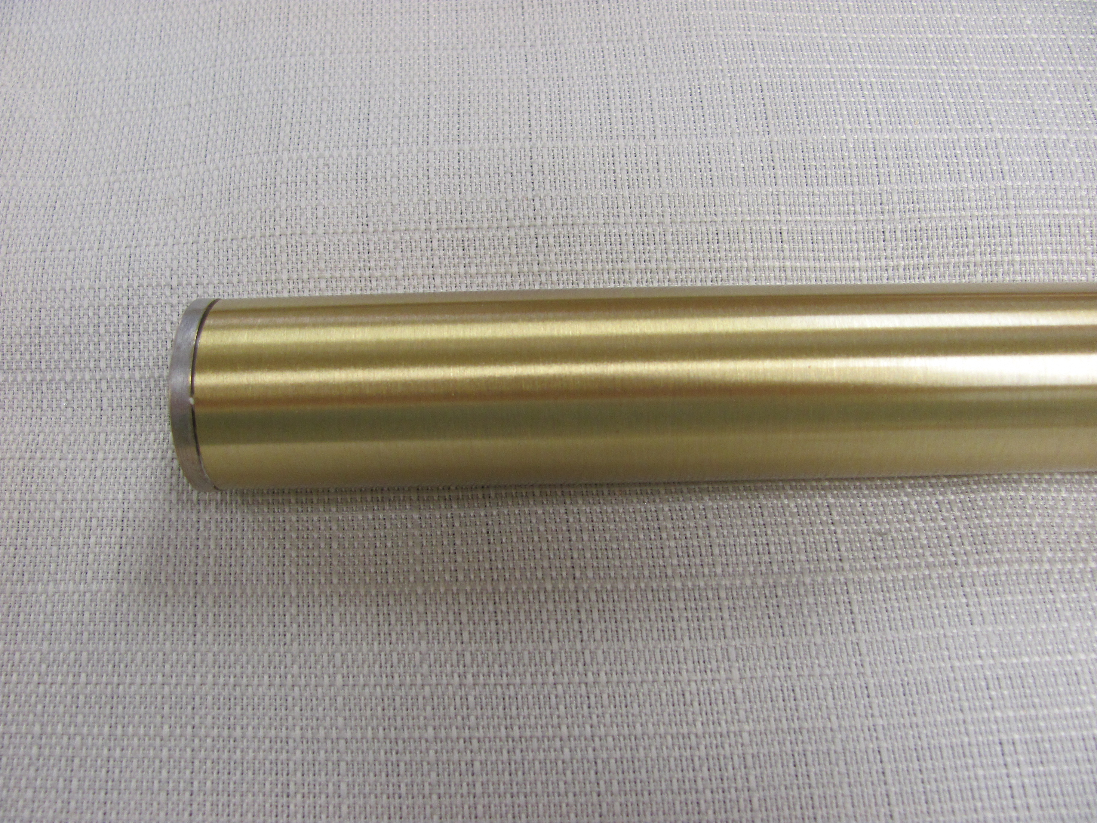 1 Inch Brushed Brass with Brushed Nickel Flush End Cap