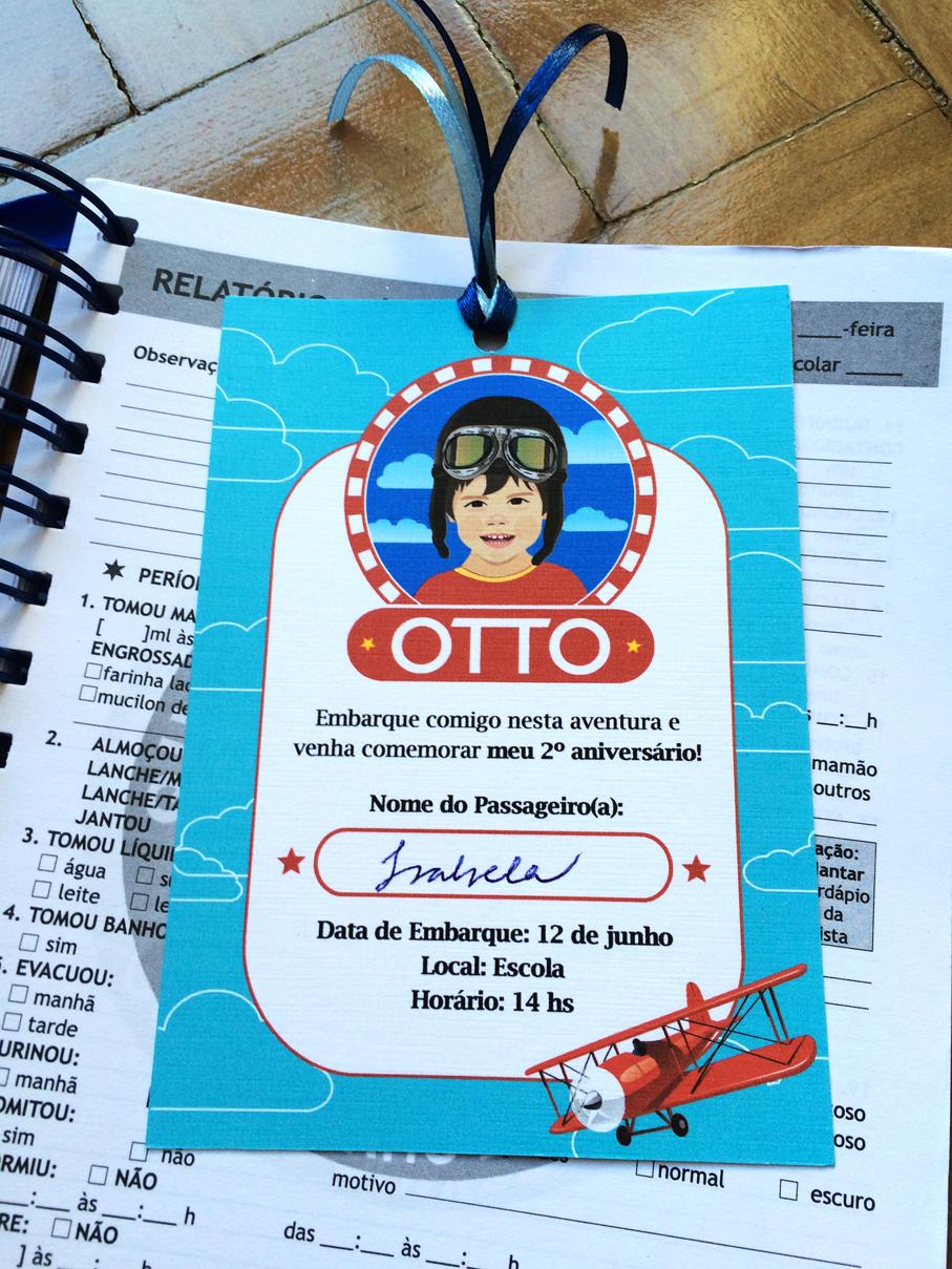 Convite Personalizado Festa Infantil Aviador
