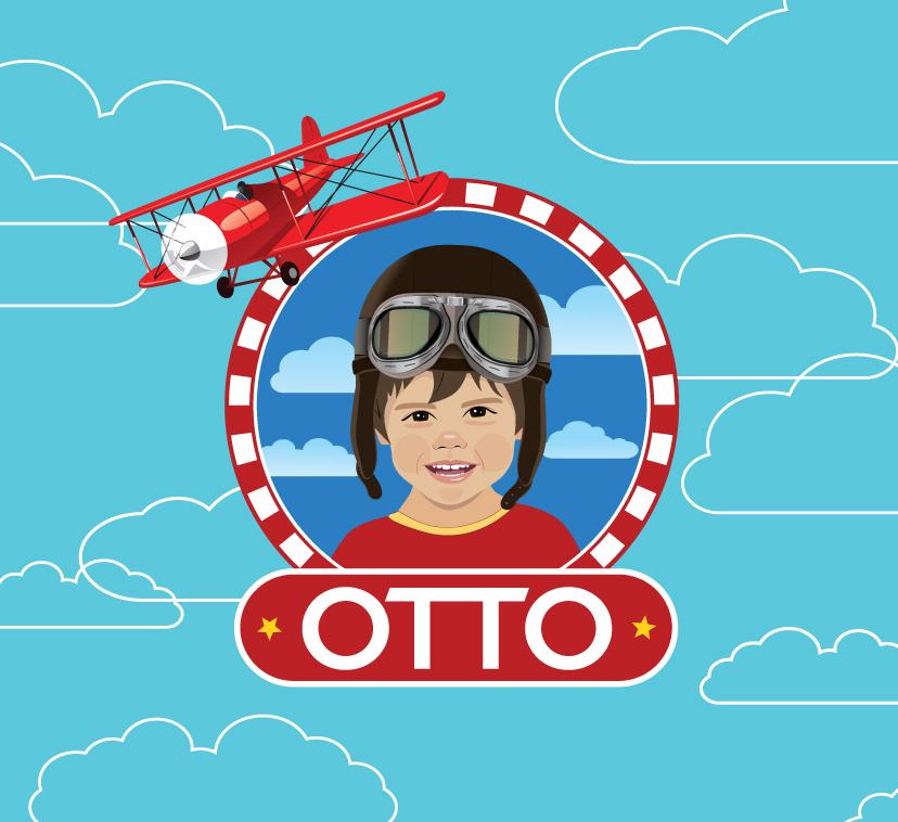 Identidade Visual Personalizada Festa Infantil Aviador