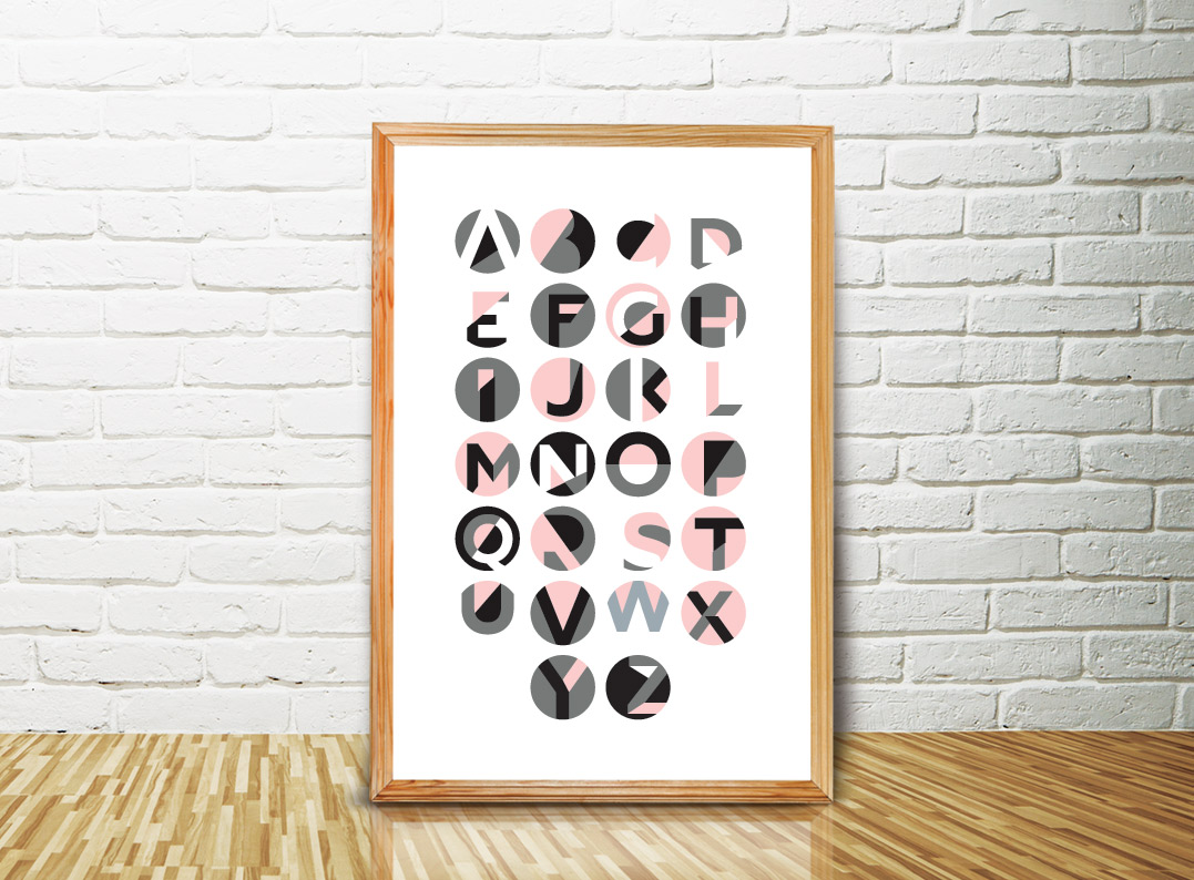 Poster Abecedário Oficina De La Madre