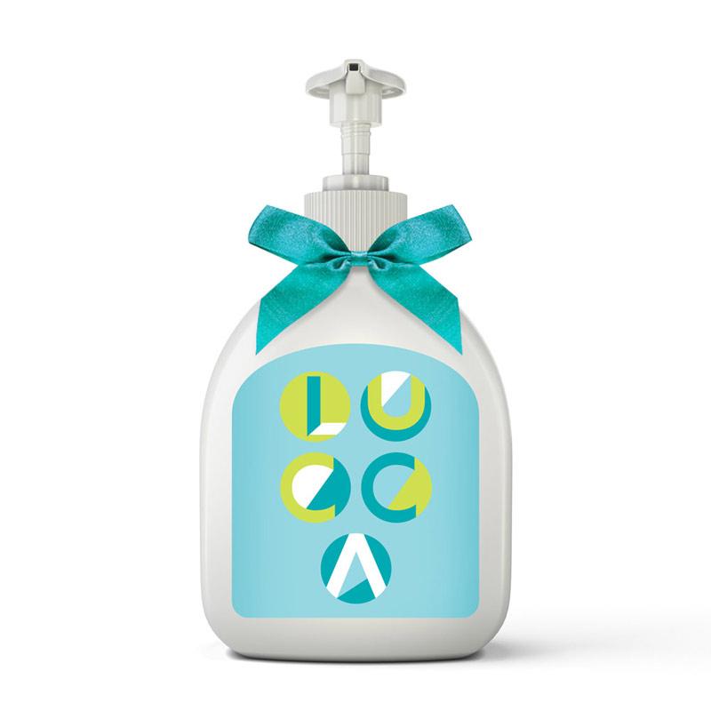 Sabonete líquido para lembrancinha de maternidade personalizada