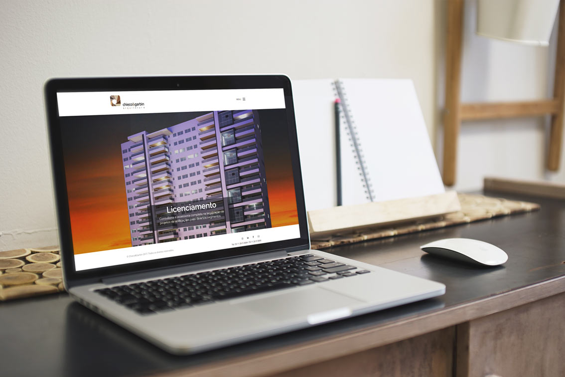 Site e atualização de marca para M.Chieco