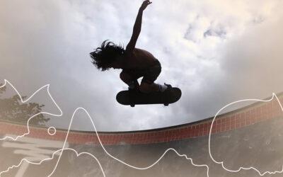 A coragem que o skate traz