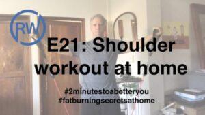 Shoulder workouts at home as part of #FatBurningSecretsAtHome