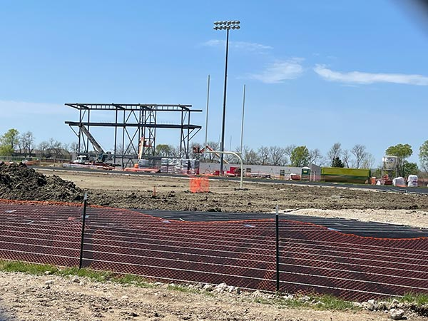New stadium at Blue Valley West. Late April 2021.