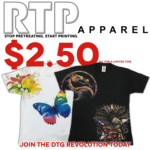 Join the DTG Revolution with RTP Apparel