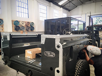 Land Rover Chassis rebuilt
