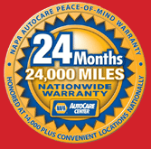 Napa 24 Month Nationwide Warranty