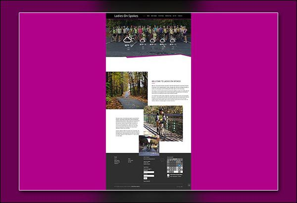 Ladies on Spokes in Peachtree City Web Design by Vibrant Web Creations Georgia