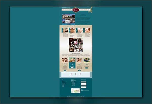 Plumyumi Day Spa in Senoia Georgia web design by Vibrant Web Creations