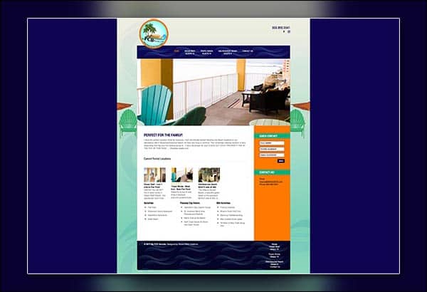 My Panama City Beach Rentals web design by Vibrant Web Creations in Coweta County GA