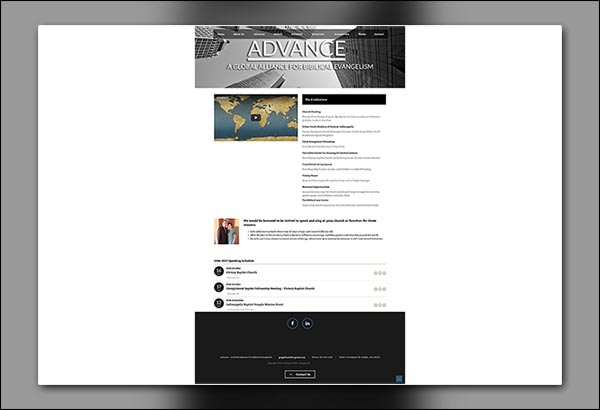 Advance 2016 Website Design by Vibrant Web Creations