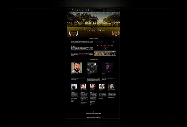 Finding Eden Movie in Fayetteville GA website design by Vibrant Web Creations