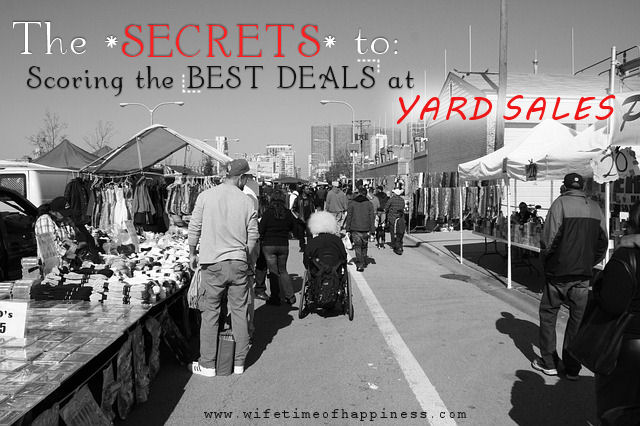 how to shop at yard sales