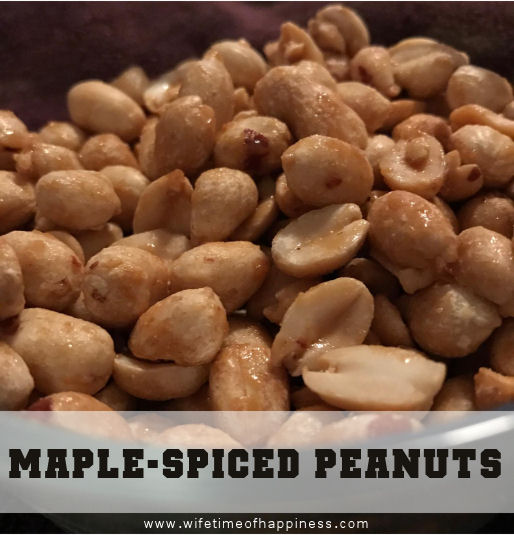maple spiced peanuts peanuts with maple syrup wifetime of happiness