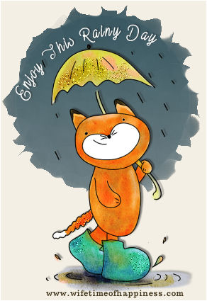 Enjoy this rainy day cat psp tag Wifetime of Happiness