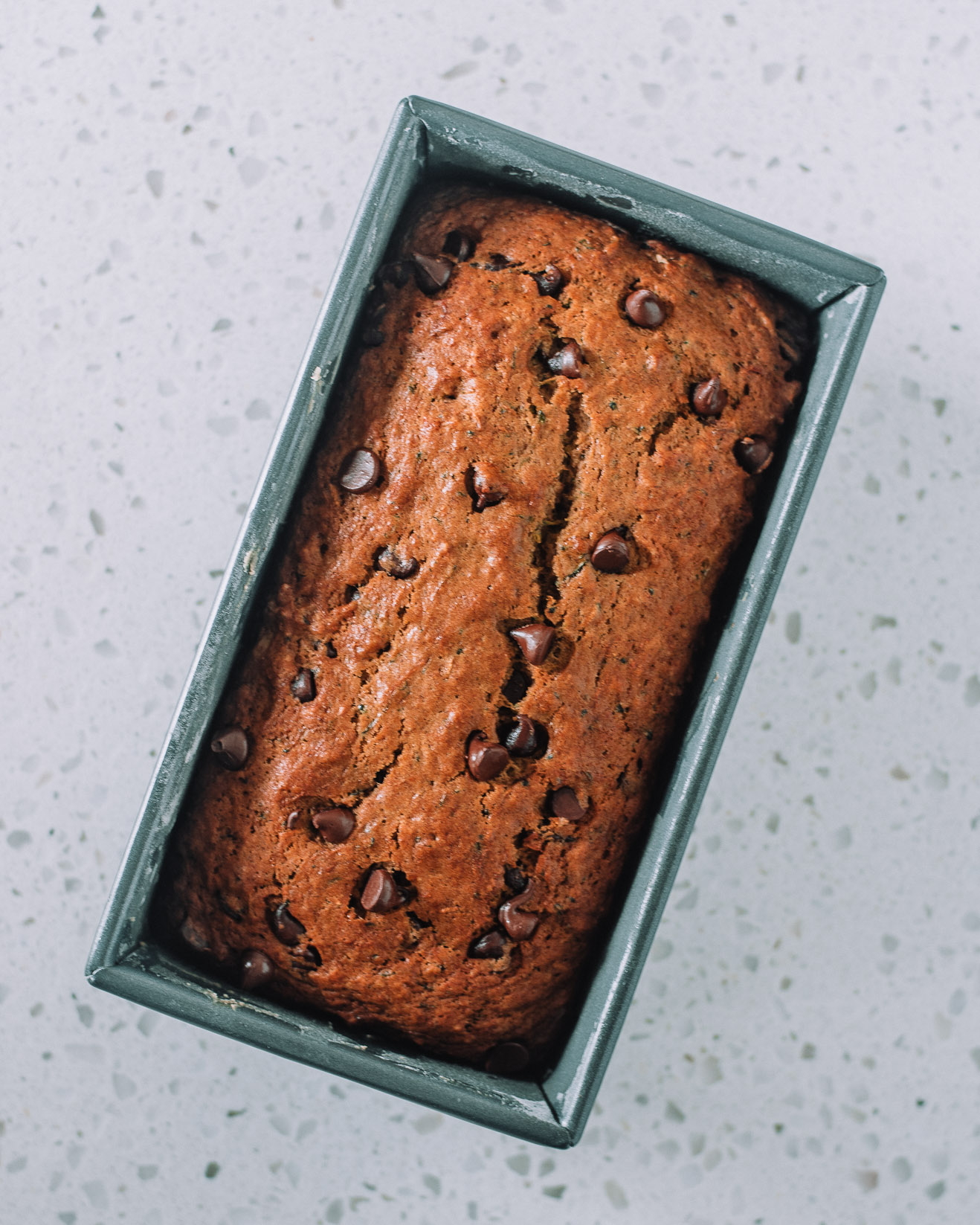 Chocolate Chip Zucchini Bread by Mash and Spread- Jasmin Foster, RD, LD.