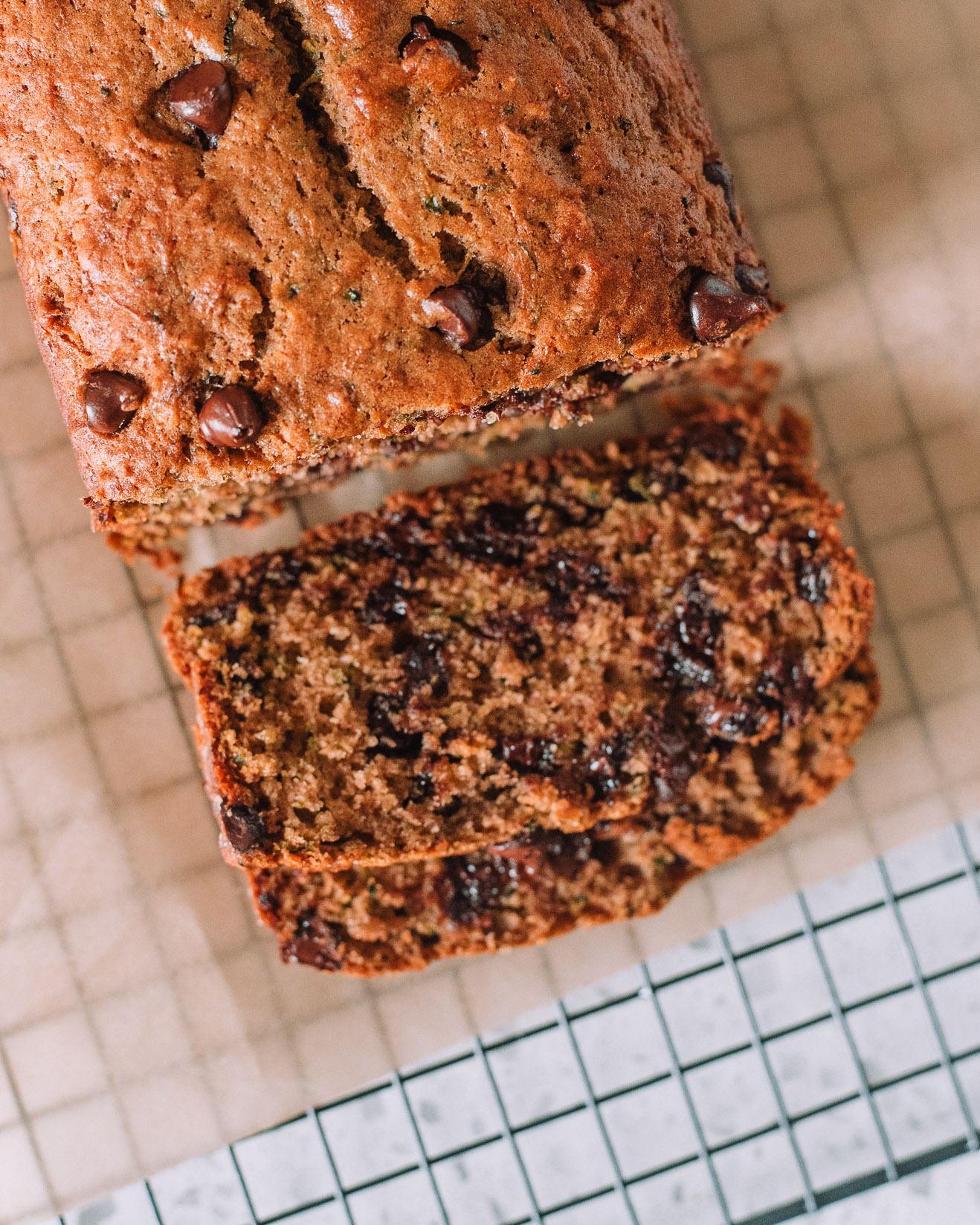Chocolate Chip Zucchini Bread by Mash and Spread- Jasmin Foster, RD, LD